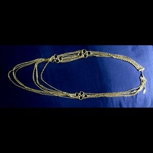 Coldwater Creek signed gold tone chain